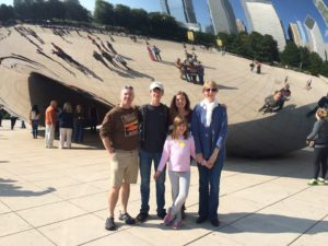 Family at the Bean